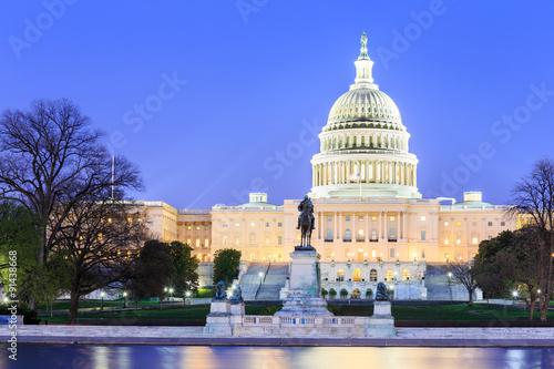 Fototapeta The United States Capitol building in Washington DC, USA obraz
