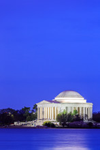 The Jefferson Memorial At Dusk, Washington DC