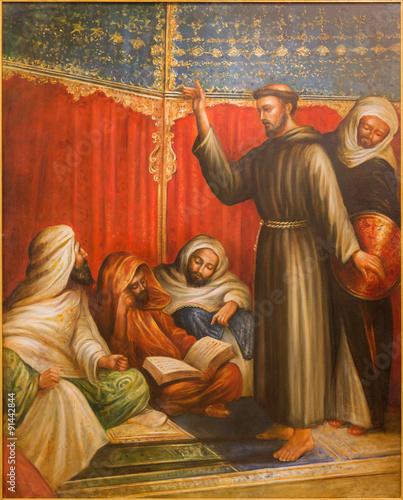 Fototapeta Cordoba - St. Francis of Assisi before sultan - Capuchins church