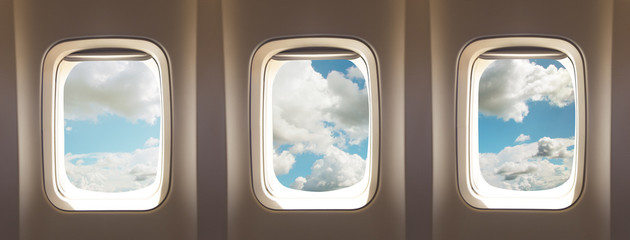 Fototapeta airplane windows