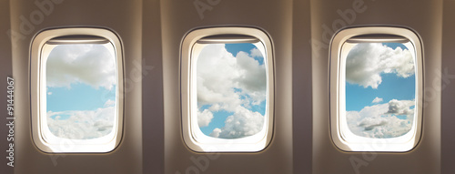 Photo sur Plexiglas Avion à Moteur airplane windows