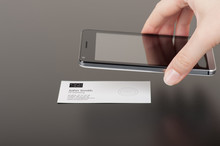 Business Card With Embedded NFC Tag And Phone