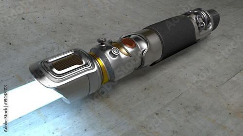 Photo  Metallic new shiny Lightsaber