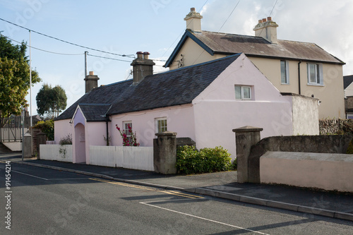 Classic cottage in Greystones. Canvas Print