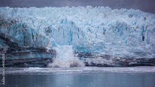 Aluminium Prints Glaciers Calving Glacier in Glacier Bay National Park, Alaska