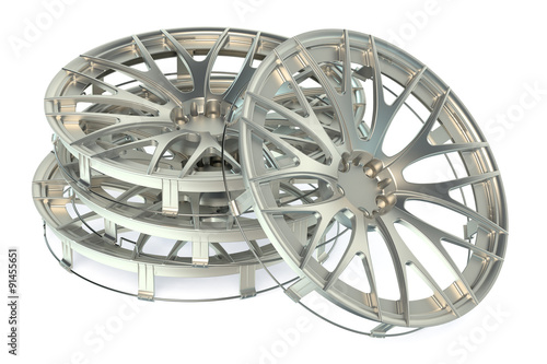 Fotografie, Obraz  Wheel Covers