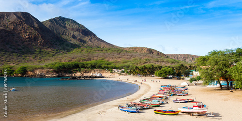 Tarrafal beach in Santiago island in Cape Verde - Cabo Verde Wallpaper Mural
