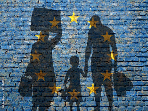 Refugees in Europe Wallpaper Mural