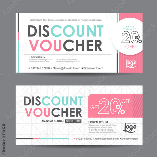 Discount Voucher Template With Colorful Pattern Cute Gift Voucher
