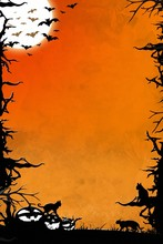 Halloween Night Orange Vertica...