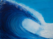 canvas print picture - Painting of a very large wave
