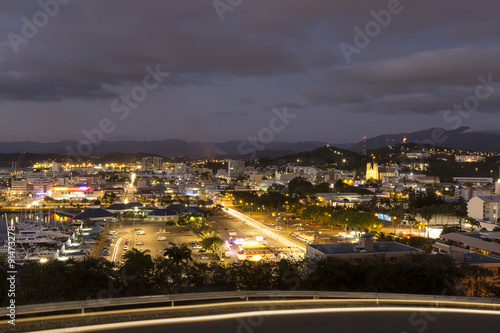 Aluminium Prints Industrial building Nouméa by night