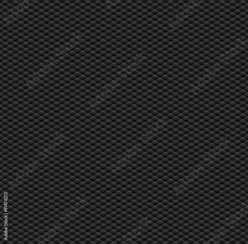 Fototapeta Dark Seamless Pattern with Hexagons. Vector Texture. obraz na płótnie