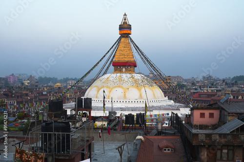Staande foto Nepal view of Boudhanath, the famous temple in Kathmandu, Nepal