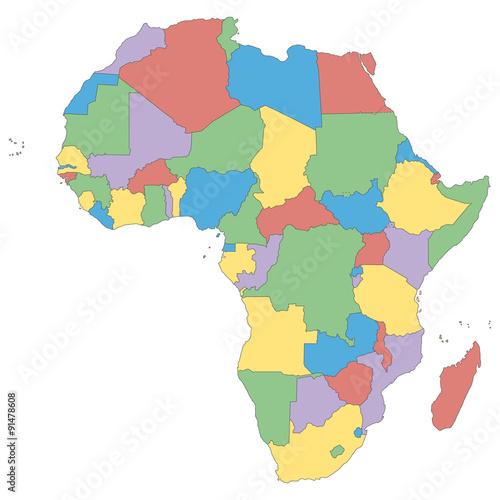 Afrika Politische Karte Buy This Stock Vector And Explore