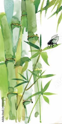 dekoracyjny-akwarela-bambusa-tlo-dla-swojego-projektu