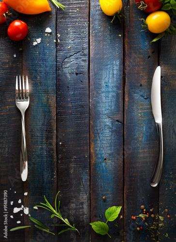 Fotobehang Restaurant art Restaurant cafe menu, template design