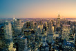 Manhattan New York City Cityscape skyline at dusk