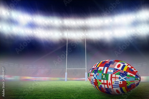 Composite image of rugby world cup international ball #91488407
