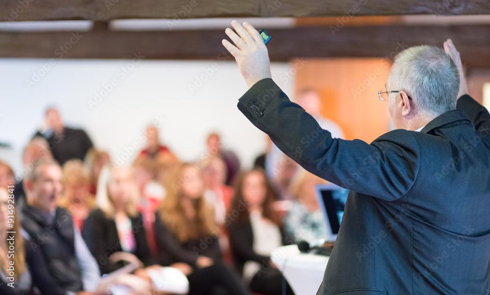 Fotografie, Obraz Speaker at Business Conference and Presentation.
