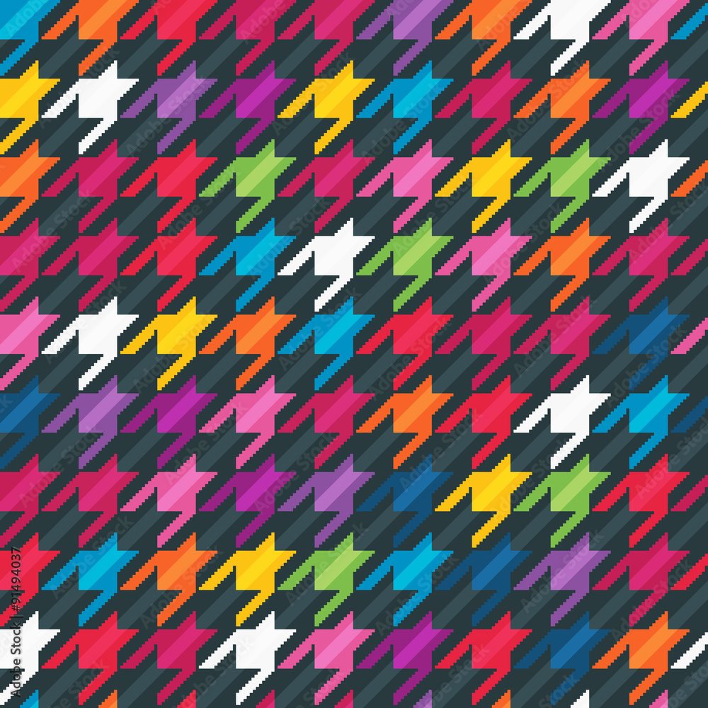 Photo  Abstract background with houndstooth print.