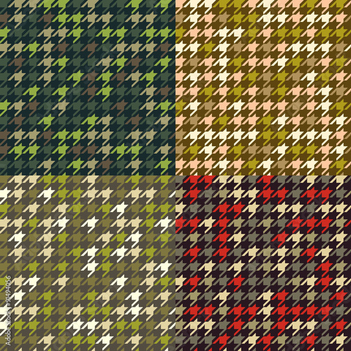 Photo  Set of houndstooth camouflage  patterns.