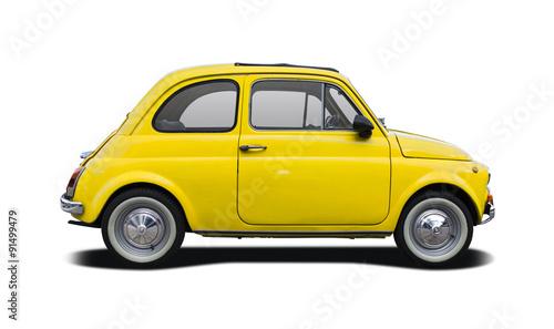 Photo  Classic Italian supermini car isolated on white