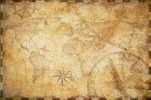 Old Nautical Treasure Map Back...