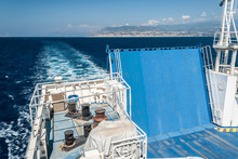 The Ramp Of A Ferry Boat Saili...