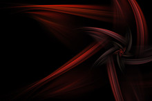 Abstract Star Like Red Fractal Over Black Background