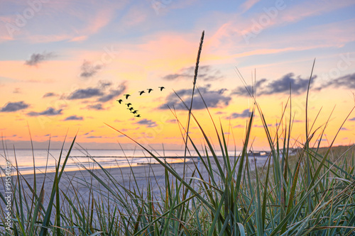 Photo  Meer Sonnenuntergang