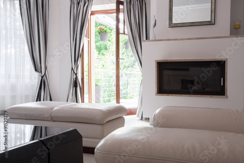Foto op Canvas Restaurant Warm lounge interior