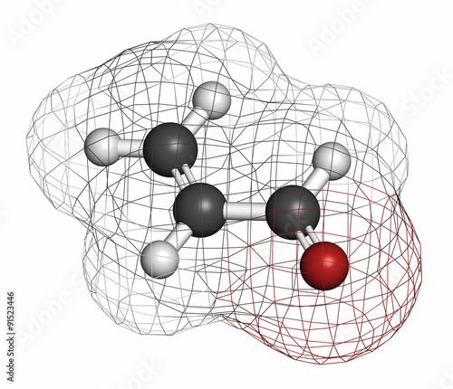 Acrolein (propenal) molecule. Canvas Print