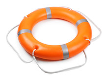 A Life Buoy For Safety At Sea,...