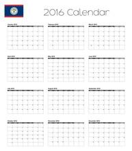 2016 Calendar With The Flag Of...