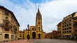 Oviedo Cathedral in day time. Asturias, Spain