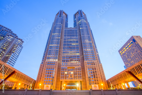 Tokyo Metropolitan Government Building ,houses the headquarters of the Tokyo Met Canvas Print
