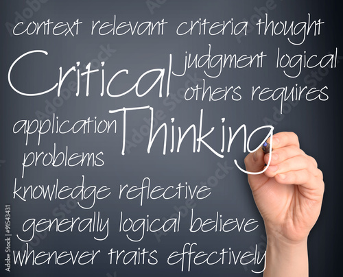 Fotografía  Background concept wordcloud illustration of critical thinking h