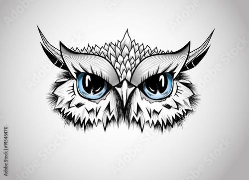 Canvas Prints Owls cartoon Owl - Guardian of the night