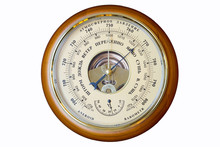 Aneroid Barometer, Instrument For Measuring Atmospheric Pressure Acting Without The Aid Of Liquid.