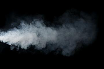 Smoke isolated on black background
