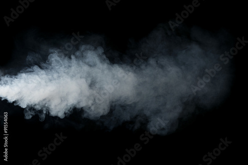 Foto op Plexiglas Rook Smoke isolated on black background