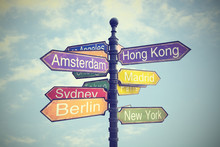 Directional City Signs