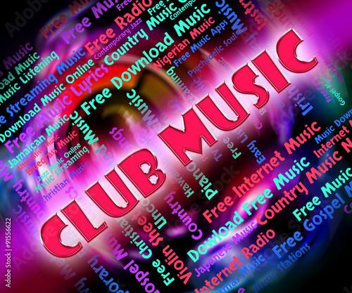 Keuken foto achterwand Art Studio Club Music Means Sound Tracks And Acoustic