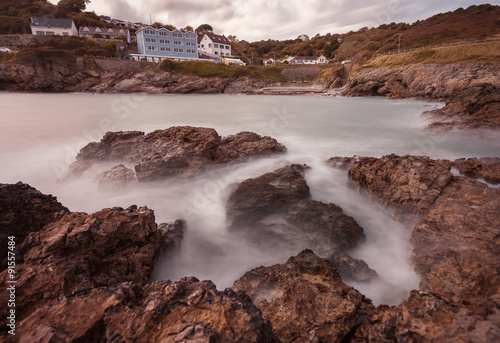 Limeslade Bay on the Gower peninsular near Mumbles Head and Bracelet Bay, Swansea Canvas Print
