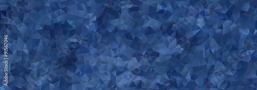 abstract  mosaic background of blue gradient triangles