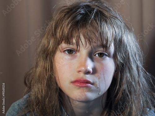 Fényképezés  Девушка в слезах. Подросток