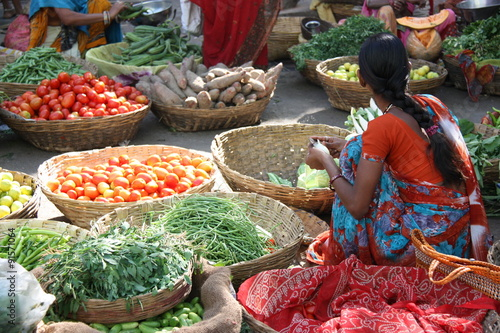 Fotobehang India Jaipur, marché indien au Rajasthan, Inde