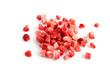 canvas print picture - Gefriergetrocknete Erdbeeren