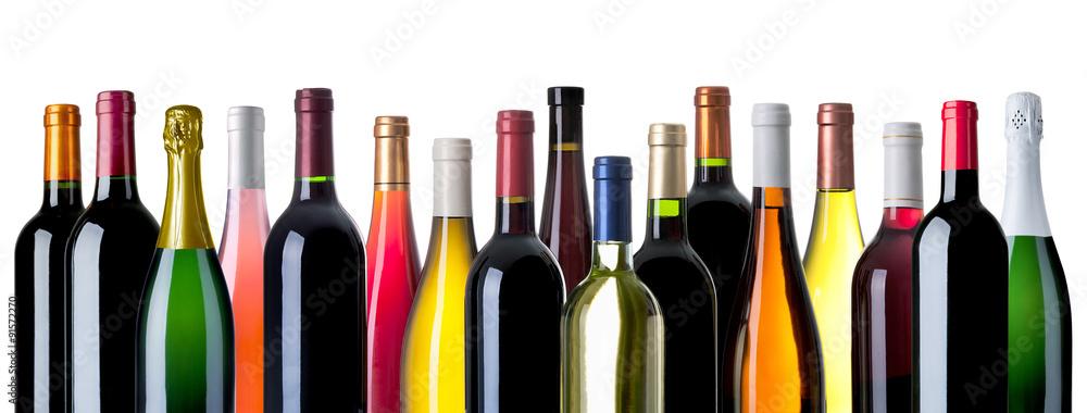 diverse Weinflaschen